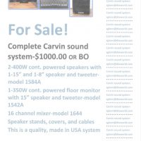 Carvin Sound System