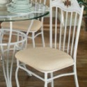 Set of 4 wrought iron dining room chairs